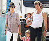 Slide Picture of Matthew McConaughey and Camila Alves With Levi and Vida in LA