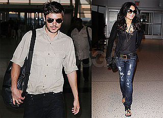 Pictures of Zac Efron and Vanessa Hudgens at JFK