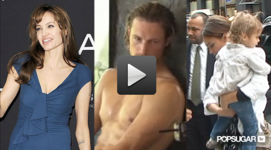 Angelina Jolie Promoting Salt in Europe, Gabriel Aubry Shirtless For Charisma, and Jessica Alba Interview about motherhood