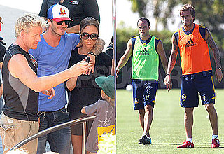 Pictures of David Beckham and Victoria Beckham Showing PDA
