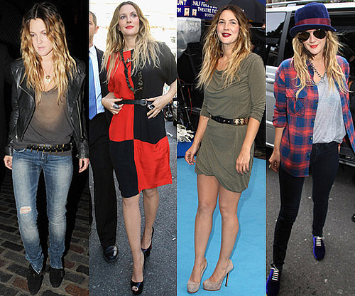 Photos of Drew Barrymore in London for Going the Distance
