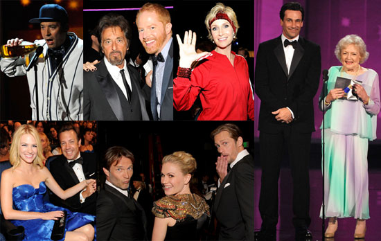 Tina Fey, Steve Carell, Lea Michele, George Clooney, January Jones, Jason Sudeikis at 2010 Emmy Awards