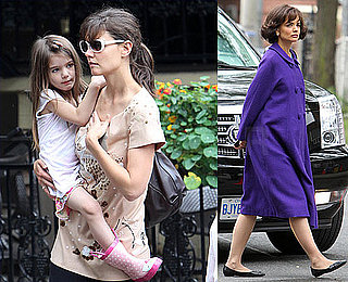 Pictures of Katie Homes, Suri Cruise, and Isabella Cruise Shopping in Toronto