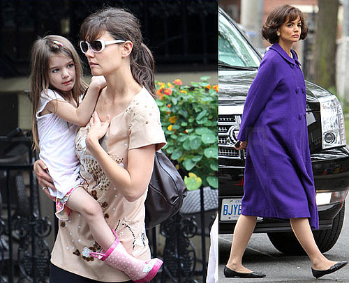 Pictures de Katie Homes, Suri Cruise, et Isabella Cruise en tain de faire du shopping a Toronto