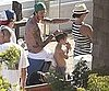 Slide Picture of David Beckham Shirtless in Malibu