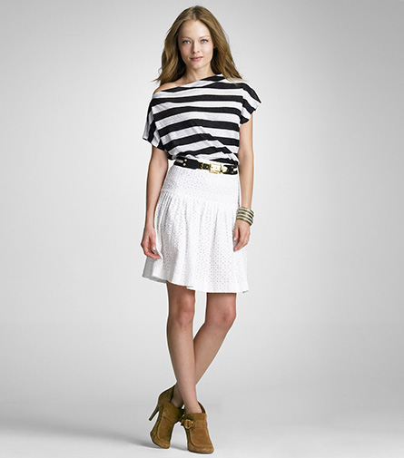 Tory Burch Camille Eyelet Skirt ($138, originally $275)
