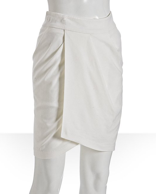 Aryn K White Jersey Wrap Skirt ($47)