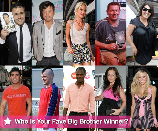 Pictures of All Big Brother UK Winners From Series 1-10 Including
