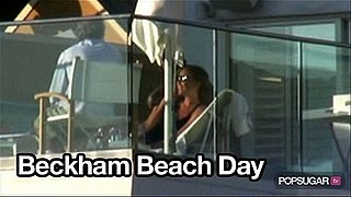 Video of Victoria Beckham and David Beckham at the Beach in Santa Monica
