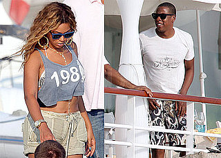 Pictures of Jay-Z and Beyonce on Vacation Eating Lunch at Eden Roc in France