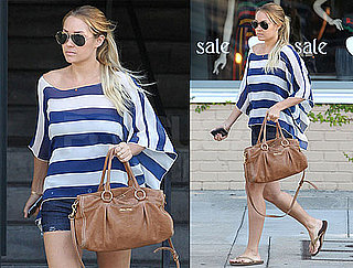 Pictures of Lauren Conrad wearing stripes in LA 2010-08-25 14:00:00