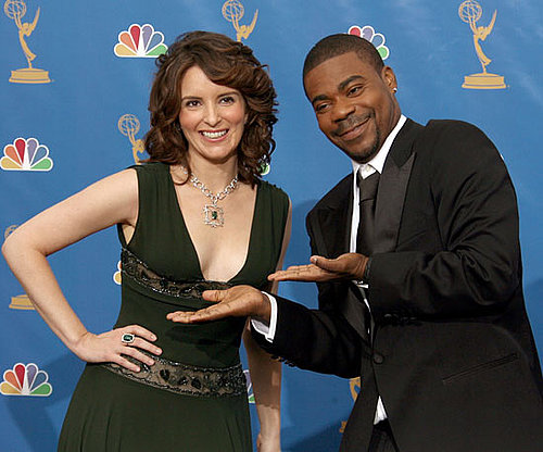 30 Rock costars Tina Fey and Tracy Morgan joked around in 2006.