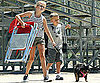 Slide Picture of Ava and Deacon Phillippe at Park With Dog
