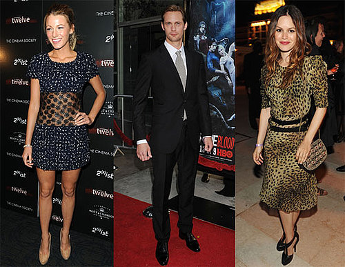 Pictures of Blake Lively, Alexander Skarsgard, and Rachel Bilson