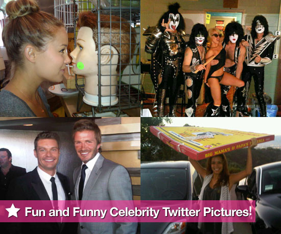 Lauren Conrad, Lady Gaga, Ryan Seacrest, and Eva Longoria in This Week's Fun and Funny Celebrity Twitter Pictures!