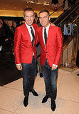DSquared2 designers and twin brothers Dean and Dan Caten popped by the Vancouver store in February 2010.