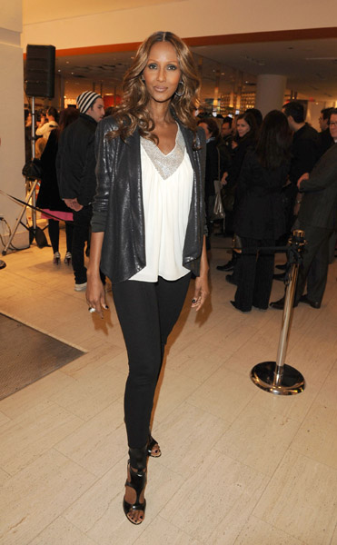 Iman attended the Holt Renfrew Fashion Presentation and Media cocktail party in 2009.