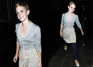 Pictures of Emma Watson Grabbing Dinner With Family and Partying With Friends in London