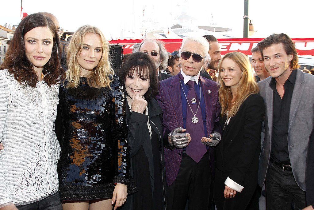 A stylish gang at the Chanel Cruise '11 presentation in May.