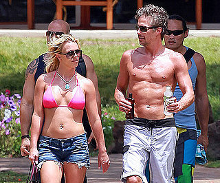 Slide Picture of Britney Spears Bikini and Jason Trawick Shirtless in Hawaii