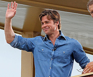 Slide Picture of Brad Pitt Wearing Denim in New Orleans