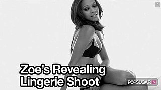 Video of Zoe Saldana in Calvin Klein Underwear