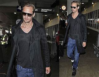 Pictures of Alexander Skarsgard at LAX