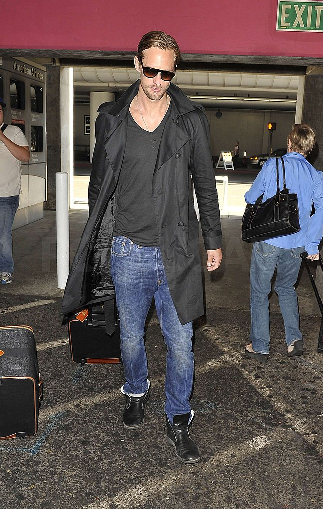 Pictures of Skarsgard at LAX