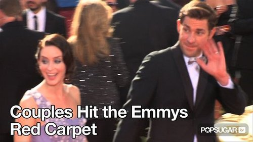 Video of John Krasinski, Emily Blunt, Kim Kardashian and More on the Emmys Red Carpet