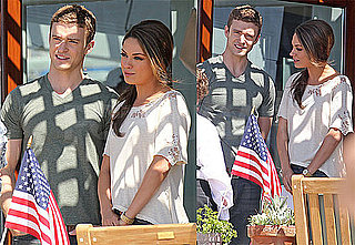 Pictures of Justin Timberlake and Mila Kunis on the Set of Friends With Benefits in NYC