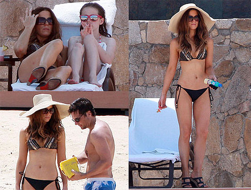 Pictures of Kate Beckinsale in a Bikini Vacationing in Mexico With Shirtless Len Wiseman