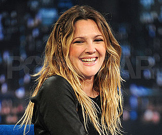 Slide Picture of Drew Barrymore on Late Night With Jimmy Fallon