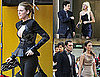 Pictures of Blake Lively Showing Skin on the Set of Gossip Girl