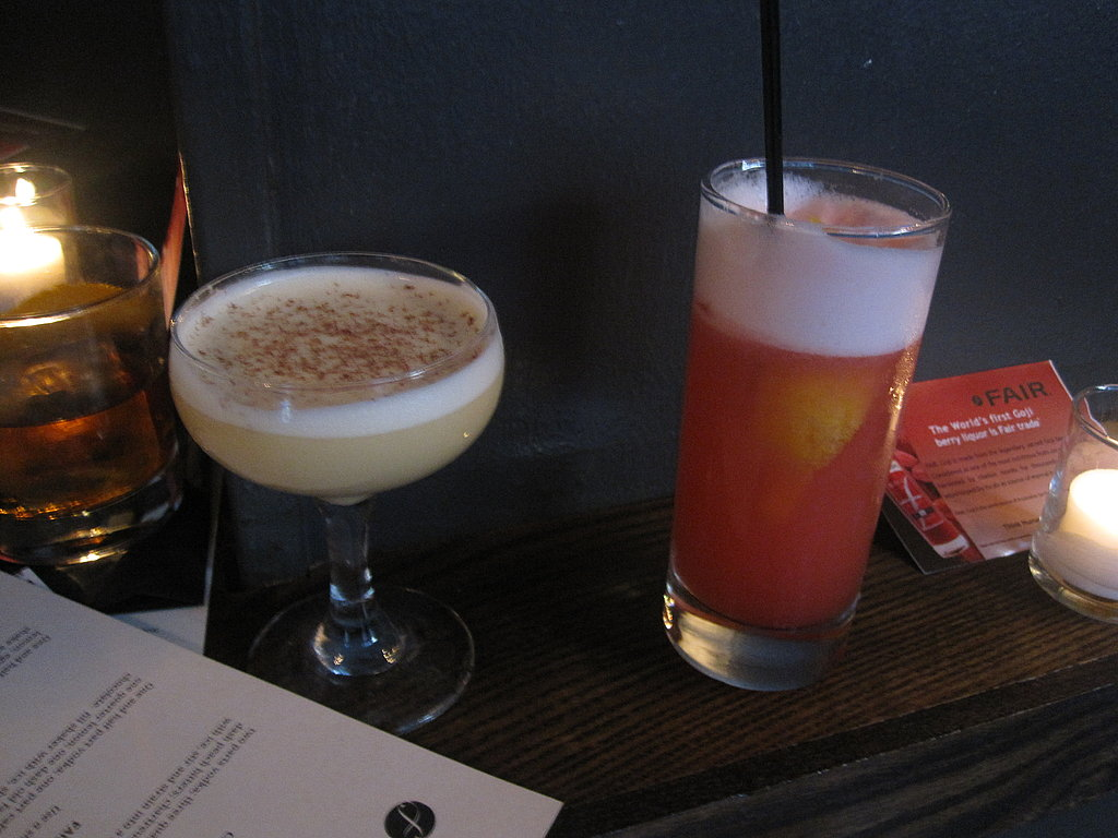A shot of the trio of drinks.