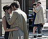 Pictures of Anne Hathaway Kissing Jim Sturgess Filming One Day in Paris