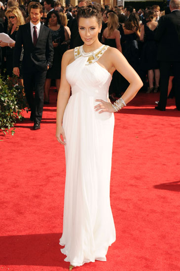 August 2010: Kim Kardashian at the 62nd Annual Primetime Emmy Awards