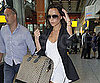 Slide Picture of Victoria Beckham Arriving at Heathrow Airport in London