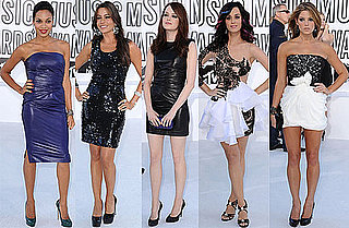 Katy Perry, Audrina Patridge, Lo Bosworth, Stephanie Pratt, Selena Gomez, Ashley Greene, Emma Stone, Lady Gaga at 2010 MTV VMAS