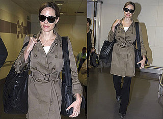 Pictures of Angelina Jolie in London Going to Pakistan
