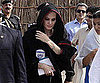 Slide Picture of Angelina Jolie Visiting Peshawar, Pakistan