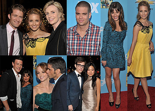 Lea Michele, Dianna Agron, Jane Lynch, Matthew Morrison and Glee Cast at Season Two Premiere