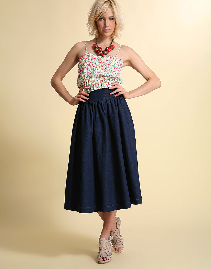 Asos Indigo High Waist Denim Full Skirt ($17, originally $51)