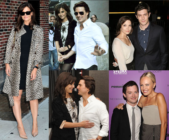 Pictures of Katie Holmes and Tom Cruise at The Romantics New York Screening, Watch Katie on Regis and Kelly and Letterman