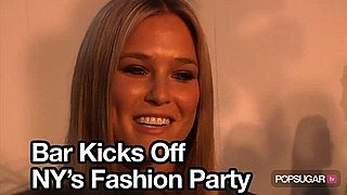 Video of Bar Refaeli and Gisele Bundchen at Fashion's Night Out Runway Show