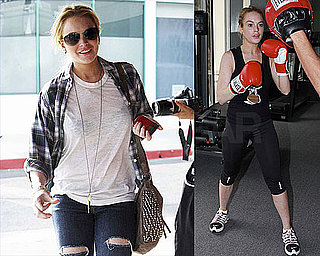 Pictures of Lindsay Lohan Boxing and Meeting With Her Attorney in LA