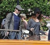 Pictures of Ben Affleck and The  Town Leaving Venice