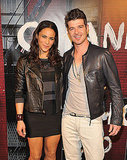 Cutie couple Robin Thicke and Paula Patton are all smiles at the event.