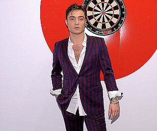 Slide Picture of Ed Westwick Attending a Fashion's Night Out Event in NYC