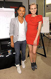 Always-impeccable Diane Kruger in a hot, red mini with Prabal Gurung at Saks.