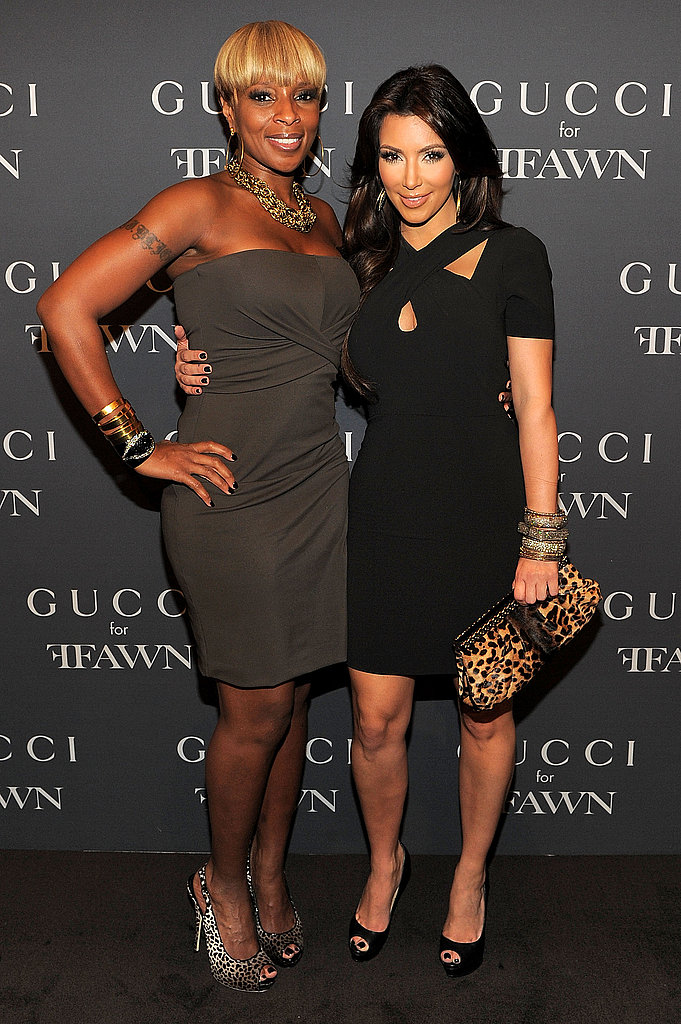 Pretty ladies Mary J. Blige and Kim Kardashian hit up the FNO fun at Gucci in NYC.